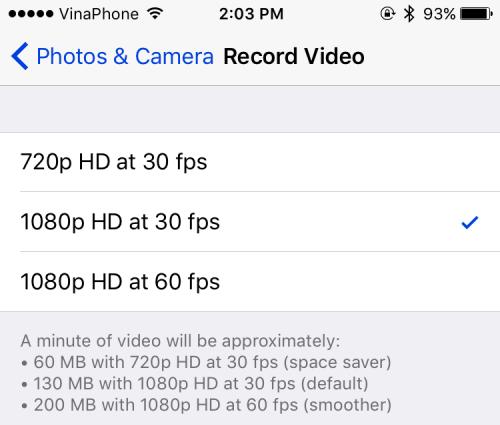 iphone 6s- how to change vidoe recording setting 3