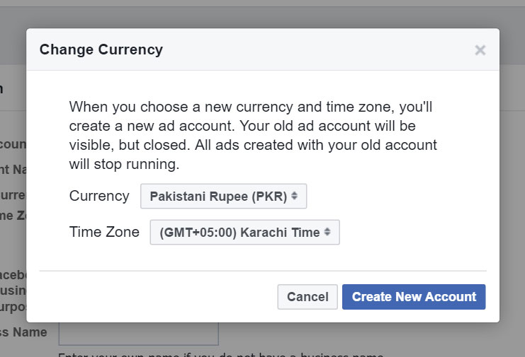 facebook charing in Pakistani rupee